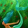Diving Mermaid Fantasy Art Print by Sue Halstenberg