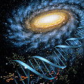 DNA Galaxy Print by Lynette Cook