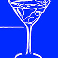 Do Not Panic - Drink Martini - Blue Print by Wingsdomain Art and Photography