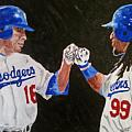 Dodgers Duo Print by Daryl Williams Jr