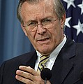 Donald H. Rumsfeld Secretary Of Defense Print by Everett