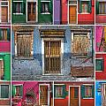 doors and windows of Burano - Venice Print by Joana Kruse