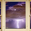 Double Lightning Strike Picture Window Print by James Bo Insogna