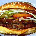 Double Whopper With Cheese And The Works - v2 - Painterly Print by Wingsdomain Art and Photography