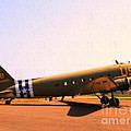 Douglas C47 Skytrain Military Aircraft . Painterly Style 7d15788 Print by Wingsdomain Art and Photography