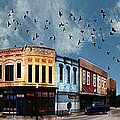 Downtown Bryan Texas 360 Panorama Print by Nikki Marie Smith