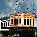 Downtown Bryan Texas Panorama 5 to 1 Poster by Nikki Marie Smith