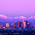 Downtown Los Angeles In Winter Poster by Andrew Kennelly