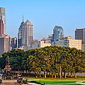 Downtown Philadelphia Skyline Print by Olivier Le Queinec