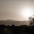 Dramatic sunset in Serbia Print by Milos Dacic