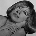 Drawing of Barbra Streisand SUPER HIGH RES  Print by Mark Montana