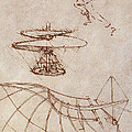 Drawings By Leonardo Divinci Poster by Science Source