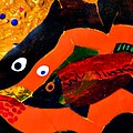 Dreamtime Barramundi detail Print by Sarah King