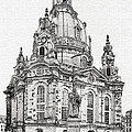 Dresden's Church of our Lady - Reminder of peace Print by Christine Till