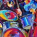 Drums And Friends Print by Debra Hurd