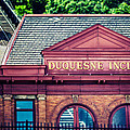 Duquesne Incline of Pittsburgh Poster by Lisa Russo
