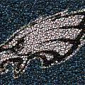Eagles Bottle Cap Mosaic Poster by Paul Van Scott