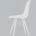 Eames Fiberglass Chair Poster by Naxart Studio