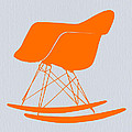 Eames Rocking chair orange Poster by Irina  March