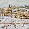 Effect of Snow at Eragny Print by Camille Pissarro