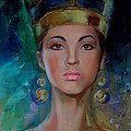 Egyptian Princess Print by Nelya Shenklyarska