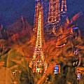 Eiffel on Bastille Day Abstract Poster by TONY GRIDER
