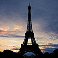 Eiffel Tower At Sunset, Paris, France Poster by Photo by rachel kara