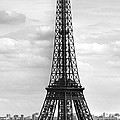 Eiffel Tower BLACK AND WHITE Poster by Melanie Viola
