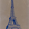 EIFFEL TOWER BLUE Poster by Irina  March