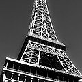 Eiffel Tower Vegas Style Poster by Leslie Leda