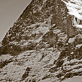 Eiger North Face Poster by Frank Tschakert