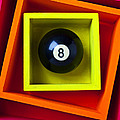 Eight Ball In Box Poster by Garry Gay