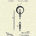 Electric Lamp 1880 Patent Art Poster by Prior Art Design