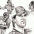 Eli Manning Print by Kathleen Kelly Thompson