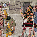 Emissaries Bring Tribute To Inca Print by Ned M. Seidler