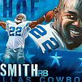 Emmit Smith HOF Poster by Jim Wetherington