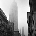 Empire State Building In Fog Poster by Adam Garelick