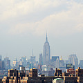Empire State Building Seen From Lower Manhattan Poster by Ryan McVay