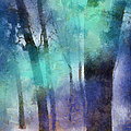 Enchanted Forest. Painting with Light Print by Jenny Rainbow