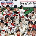 End Of The Curse Red Sox newspaper poster Print by Dave Olsen