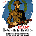 Enlist For The Infantry Print by War Is Hell Store