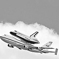 Enterprise Shuttle Over NY Print by Regina Geoghan