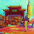 ENTRANCE TO CHINATOWN Print by CAROLE SPANDAU