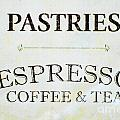 Espresso Coffee Tea Licensing Art Poster by Anahi DeCanio