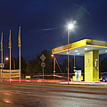 Estonian Gas Station at Night Print by Jaak Nilson