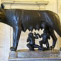 Etruscan bronze statue of the she-wolf with Romulus and Remus. Capitoline Museum. Capitoline Hill. R Poster by Bernard Jaubert
