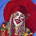 Eureka Springs Clown Print by Patty Vicknair