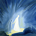 Even in the darkness of out sufferings Jesus is close to us Print by Elizabeth Wang