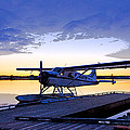 Evening Light on a DeHavilland Beaver- Abstract Poster by Tim Grams