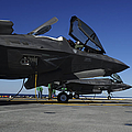 F-35b Lightning Ii Variants Are Secured Poster by Stocktrek Images